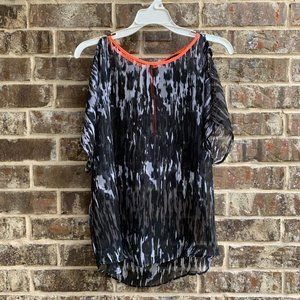 Express Short Sleeves Top Blouse Cold Shoulders